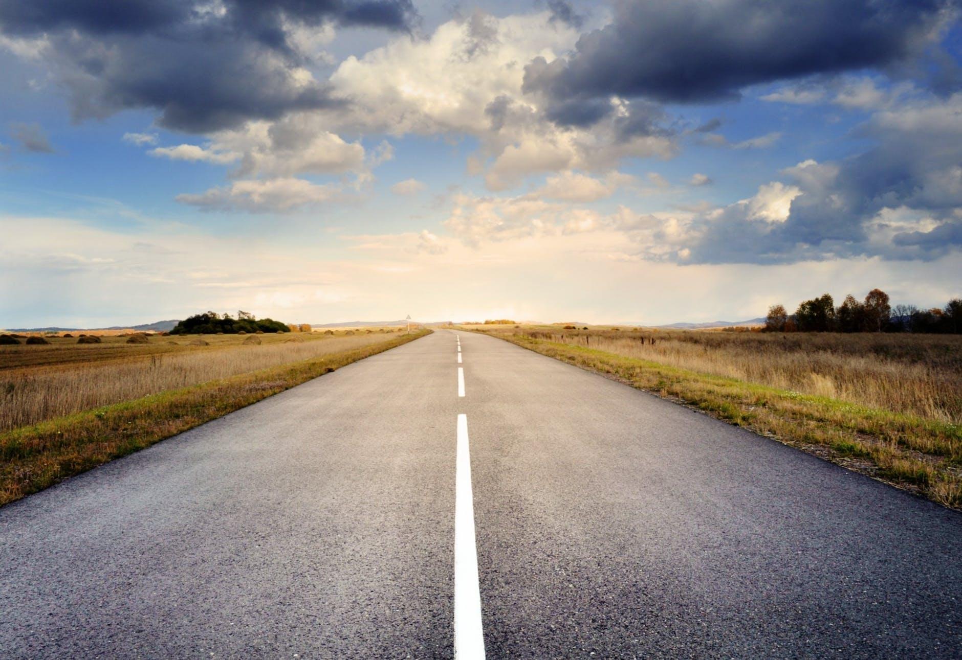 road landscape nature sky